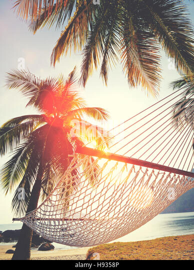 Couple Relaxation Vacation Summer Beach Holiday Concept - Stock Image