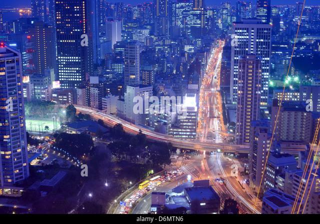 Highways and roads in Tokyo, Japan - Stock-Bilder