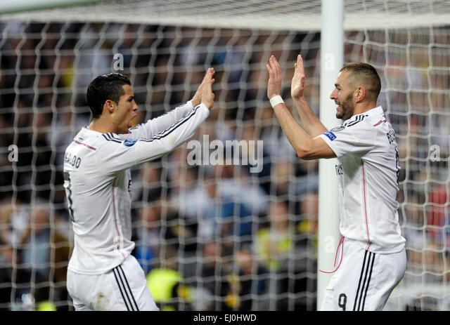 Estadio Santiago Bernabeu  Madrid, Spain, 10.3.2015, UEFA  Champions League Season 2014/2015 , Real Madrid vs Schalke - Stock-Bilder