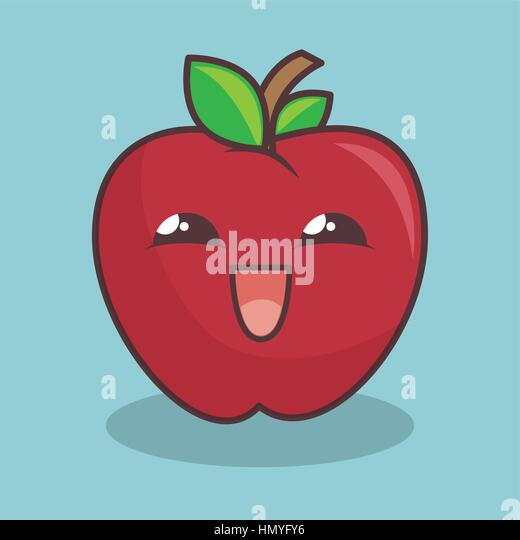Apple Character Design : Apple fruit character comic icon stock photos