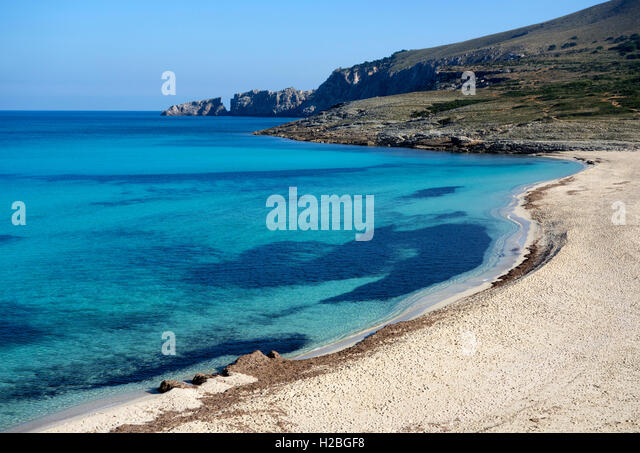 Cala Mesquida beach. Capdepera. Mallorca Island. Spain - Stock Image