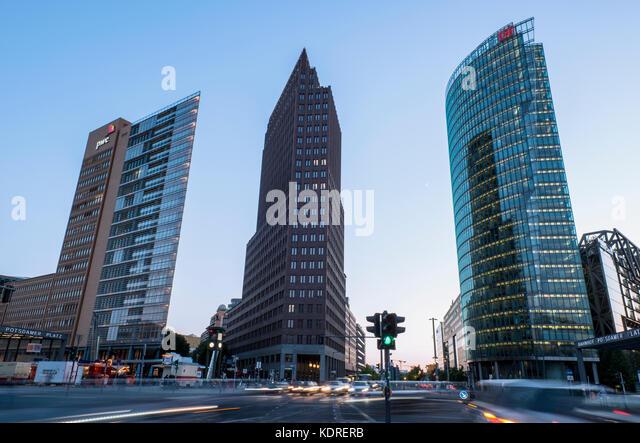 Potsdamer Platz in Berlin, Germany - Stock Image