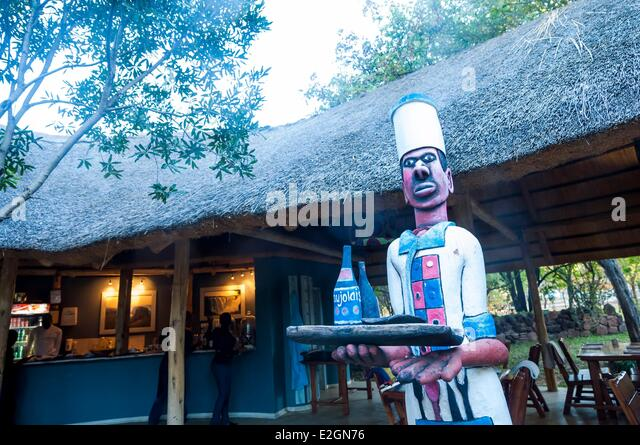 Zimbabwe Matabeleland North Province Victoria Falls or Mosi Oa Tunya restaurant - Stock Image