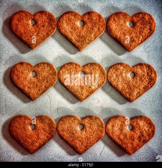 Gingerbread hearts - Stock-Bilder
