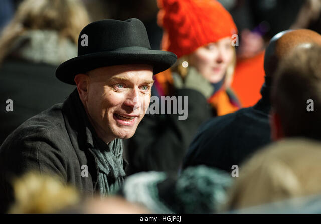 Edinburgh, UK. 22nd Jan, 2017. T2 world premiere at Fountain Park. Ewan McGregor. Credit: Steven Scott Taylor/Alamy - Stock-Bilder