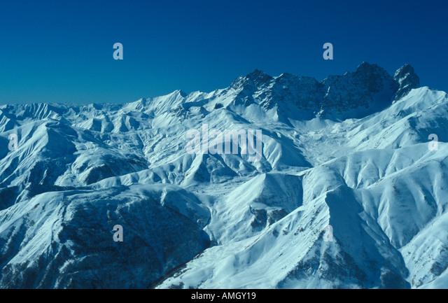 Mount Del Caucasian mountains Georgia - Stock Image