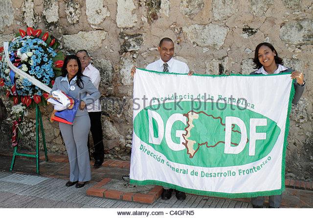 Santo Domingo Dominican Republic Ciudad Colonial Puerta Del Conde Parque Independencia Independence Park patriotic - Stock Image