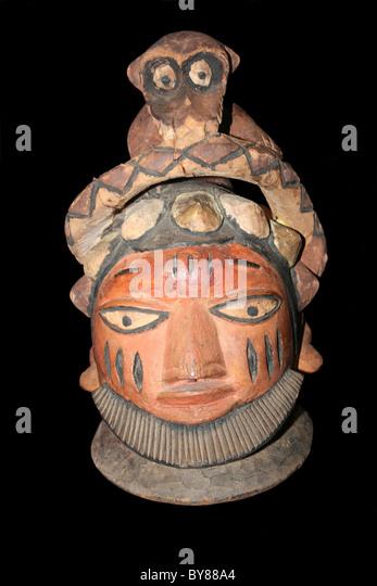 Egungun Mask, Yoruba, Nigeria Late 20th Century - Stock Image