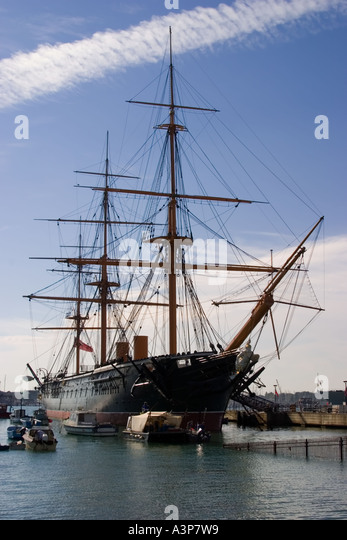 HMS Warrior, Portsmouth 1860 - Stock Image