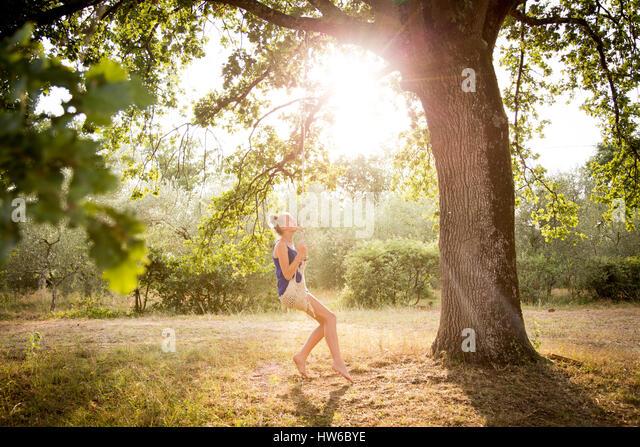 Girl in Italy - Stock Image
