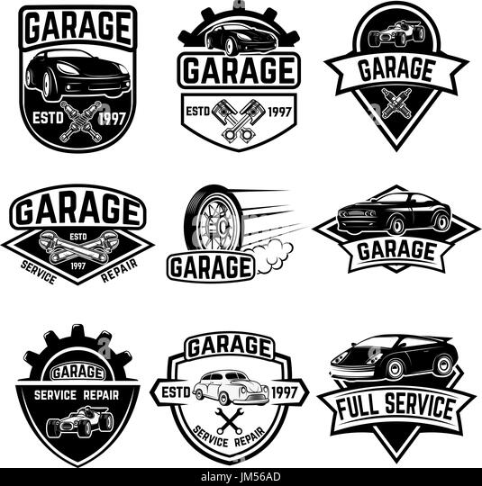 Classic car garage black and white stock photos images for Garage jm auto audincourt