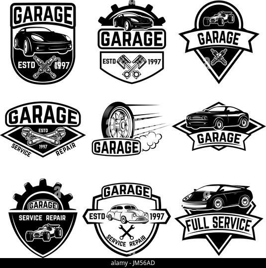 Classic car garage black and white stock photos images for Garage jm auto audincourt