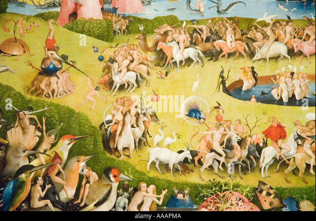 The Garden of Earthly Delights painting by Hieronymus Bosch - Stock Image