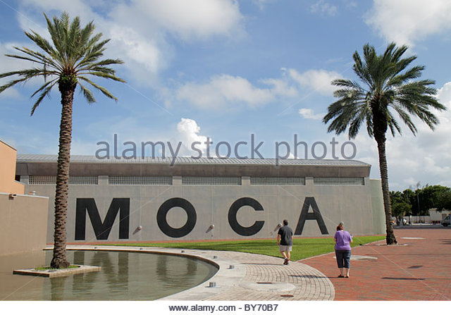 North Miami Florida MOCA Museum of Contemporary Art exterior - Stock Image