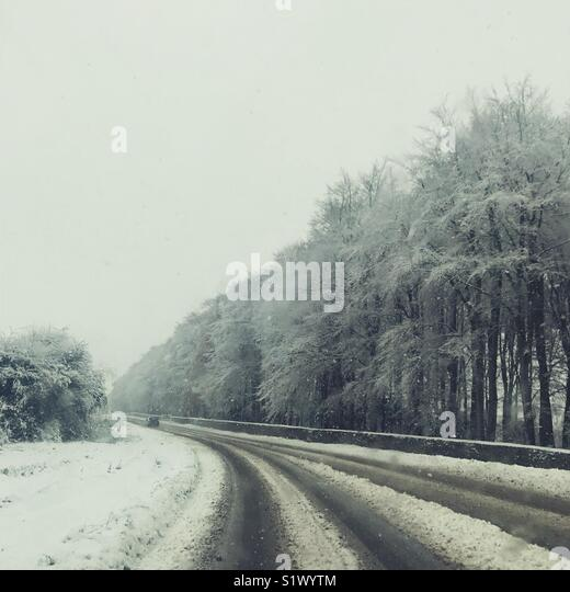 Gloucestershire Winter Scene - Stock Image