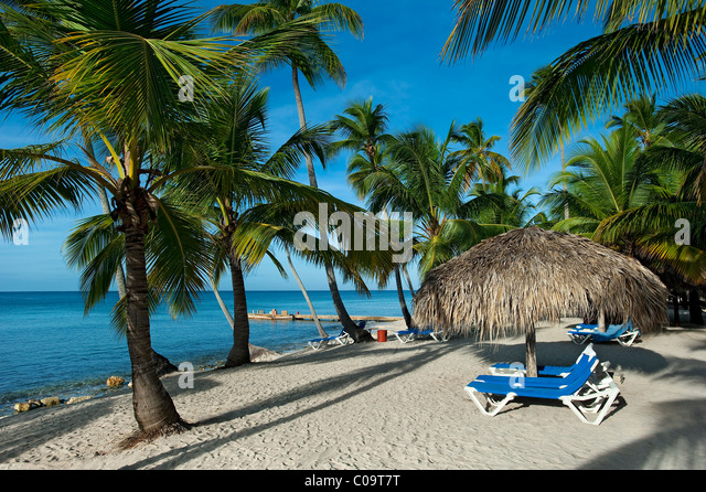 Bayahibe Beach in front of Catalonia Gran Dominicus, Dominican Republic - Stock Image
