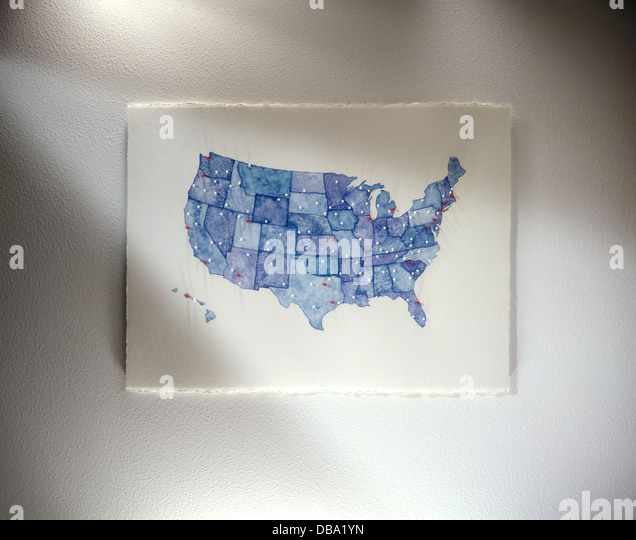 Map of U.S.A. - Stock-Bilder
