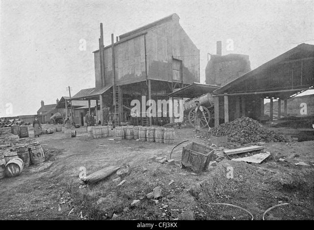Fawdry Street Works, Plascom (1909) Ltd., Wolverhampton, c 1911. - Stock Image