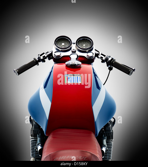 MV Agusta motorcycle isolated over white background - Stock Image
