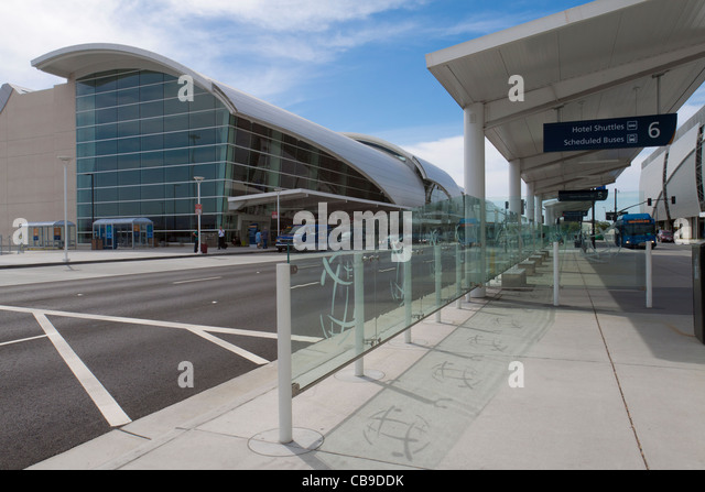 Exterior of San Jose International Airport in California, gateway to Silicon Valley - Stock Image