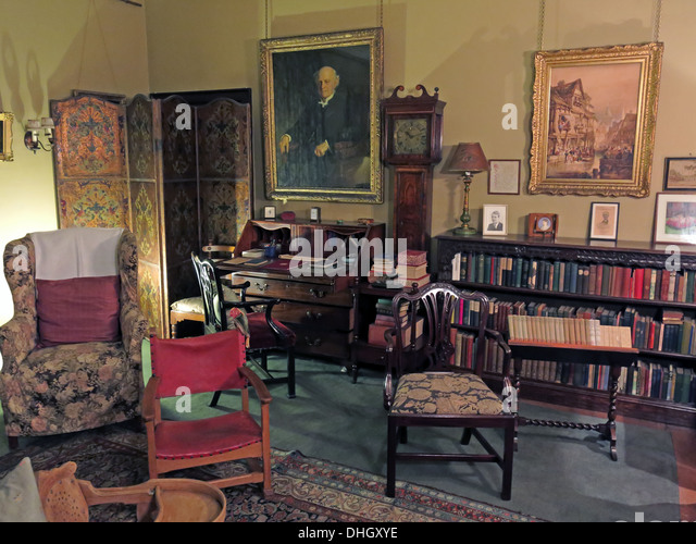 Play room, Dunham Massey, in the evening. NT near Altrincham, Cheshire, England, UK - Stock Image