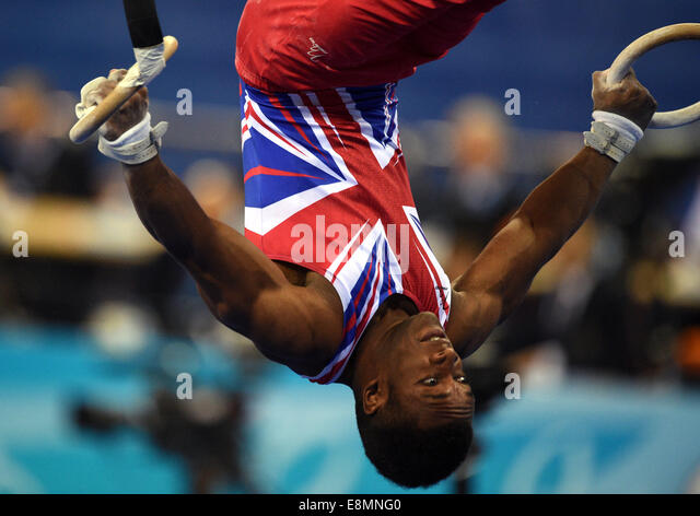 Nanning, China's Guangxi Zhuang Autonomous Region. 11th Oct, 2014. Courtney Tulloch of the Great Britain performs - Stock-Bilder