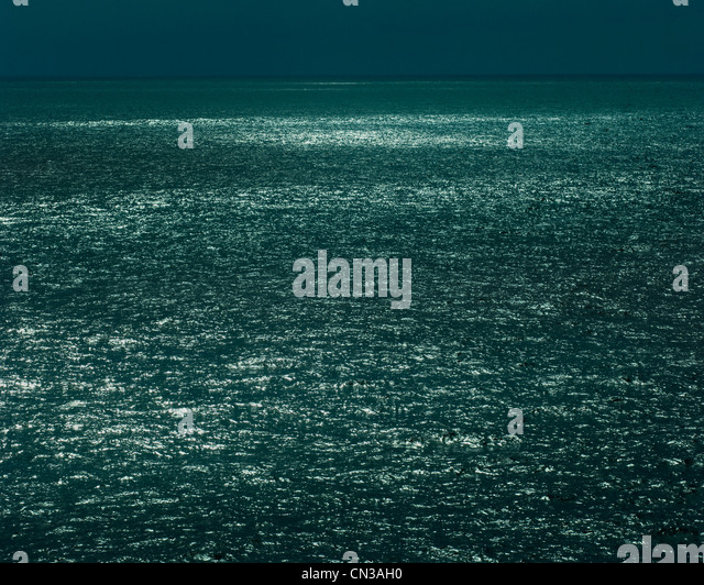 Sea surface and horizon - Stock Image