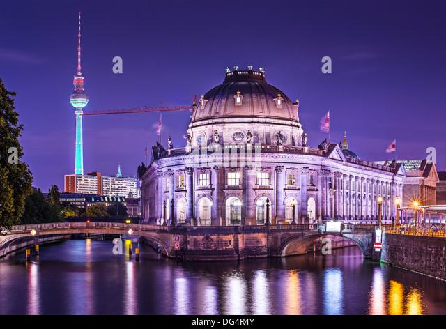 Museum Island and TV Tower in Berlin, Germany. - Stock Image