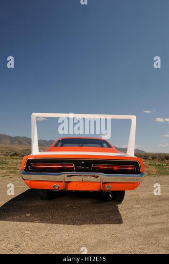 Dodge Charger Daytona 440 1969. Artist: Simon Clay. - Stock Image