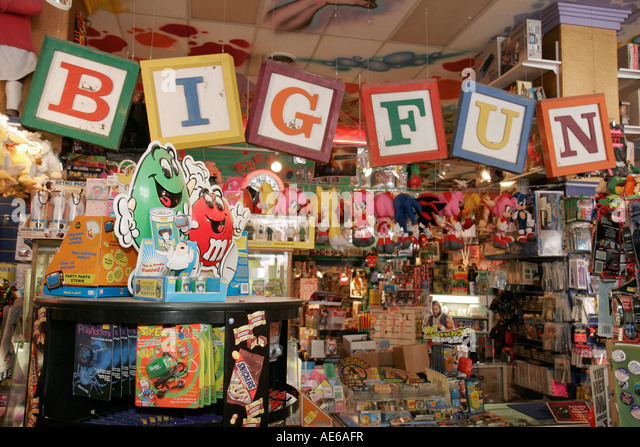 Cleveland Heights Ohio Coventry Village shopping Big Fun Toy Store collectibles - Stock Image