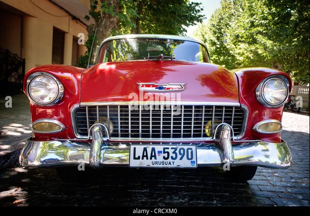 Classic car in Colonia del Sacramento, Uruguay. - Stock Image