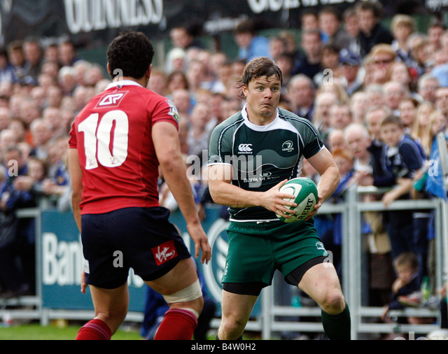 2008 Leinster concluded their pre season preparations with a resounding victory over the Queensland Reds at Donnybrook - Stock Image