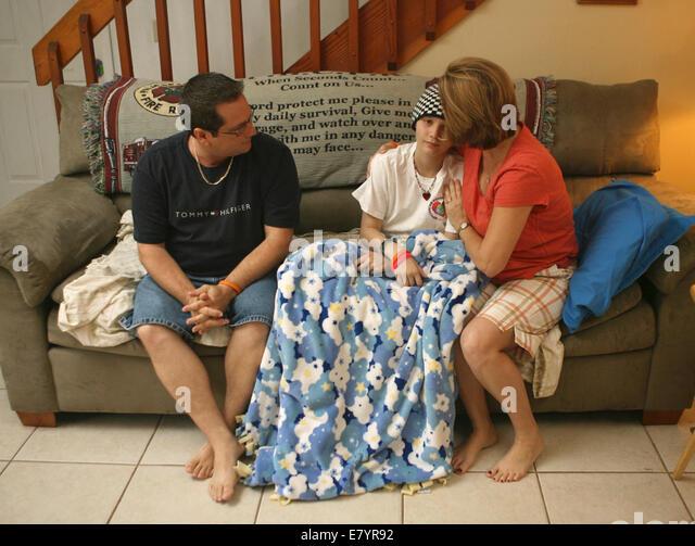 Jan 19, 2010 - Acreage, Florida, U.S. - COURTNEY WOLFE is battling leukemia. She has started rising money to eventually - Stock Image