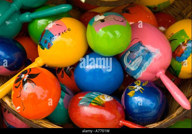 Mexico Cozumel San Miguel shopping souvenirs - Stock Image