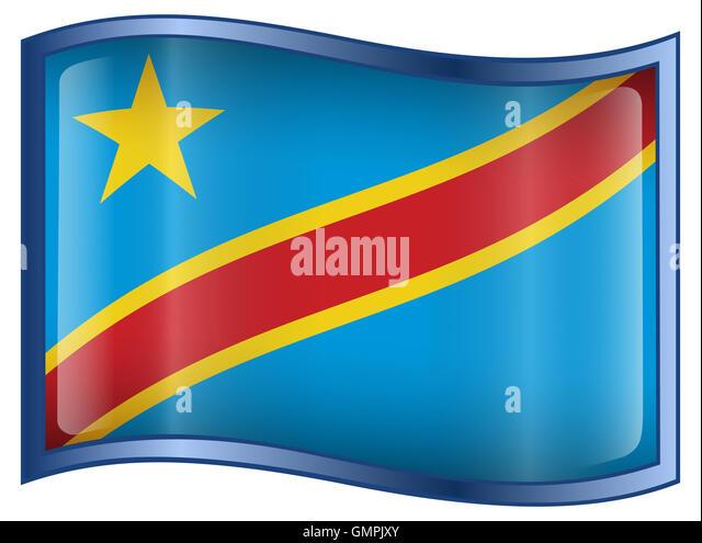 Congo Flag Icon. - Stock-Bilder