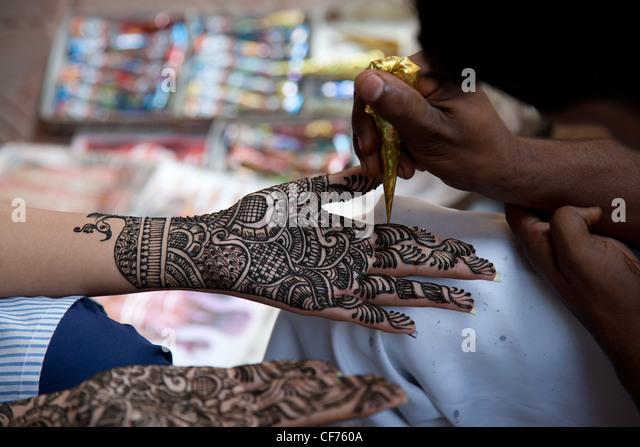 Mehndi Decoration Germany : Henna hand decorations stock photos