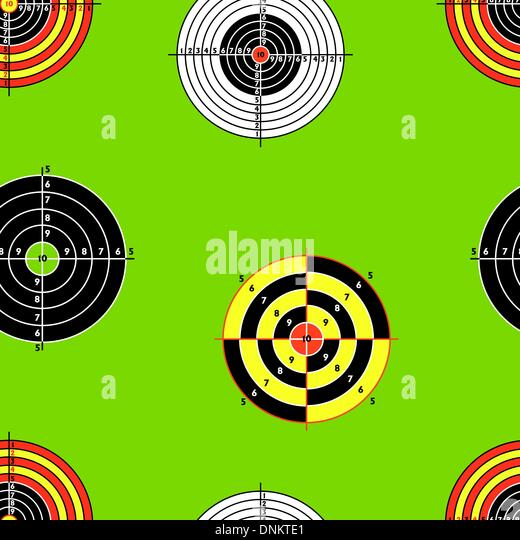 Seamless background of Targets - Stock Image