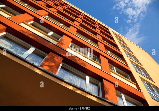 Modern building. High angle camera view. - Stock Image