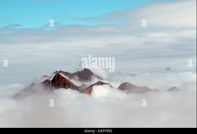 Alps peaks and clouds / Alpengipfel und Wolken - Stock-Bilder