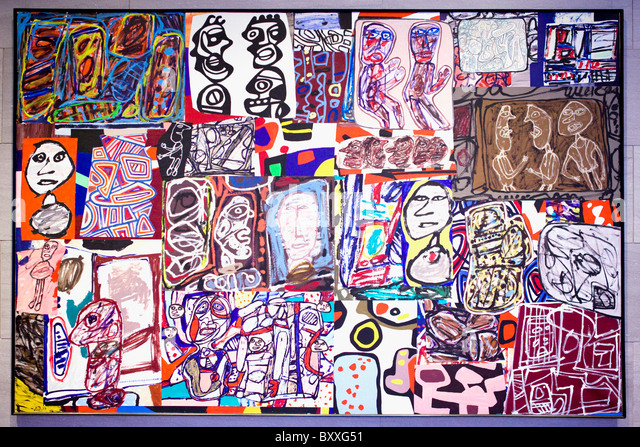 'La ronde des images' Jean Dubuffet, 1977 - Smithsonian National Gallery of Art, Washington, DC USA - Stock Image