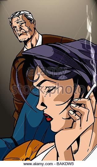 Nervous Smoke - Stock-Bilder
