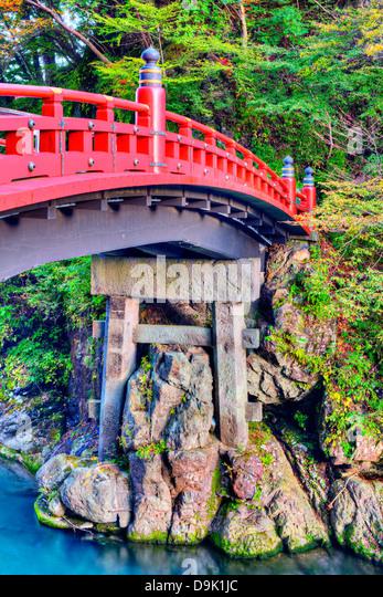 Shinkyo Sacred Bridge of Nikko, Japan. - Stock Image