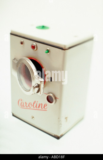 Miniature of a vintage washing machine - Stock Image