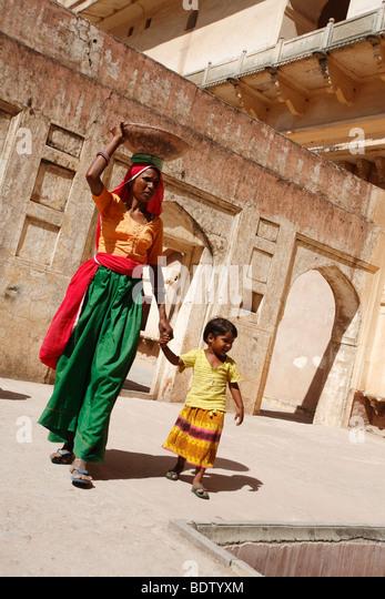rajasthanis in rajasthan, indien, india - Stock-Bilder