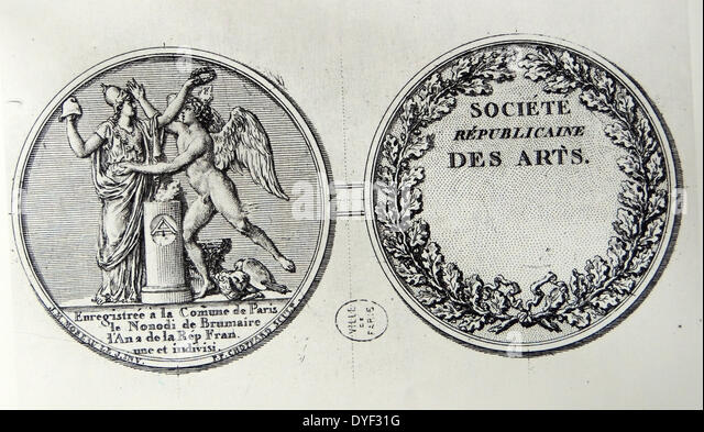 Seal of the Republican Society for the Arts - Stock-Bilder