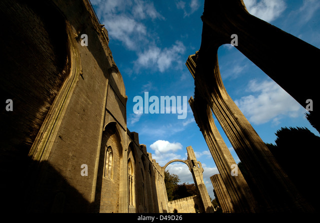 Crowland Abbey, Lincolnshire, England - Stock Image
