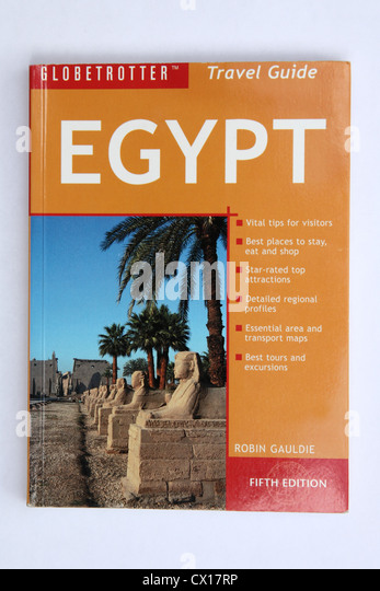 A Globetrotter travel guide to Egypt written by Robin Gauldie. - Stock-Bilder
