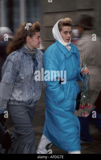 Ukraine L'vov L'viv female residents pedestrians - Stock Image