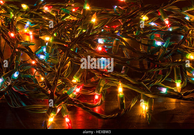 A Tangled Ball Of Christmas Lights: House Party Mess Stock Photos & House Party Mess Stock