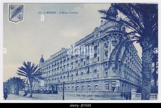 Hôtel Carlton & Boulevard de la Croisette, Cannes, France - Stock Image